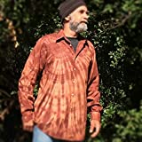 Brown Tie Dye Button Up Shirt - M/L