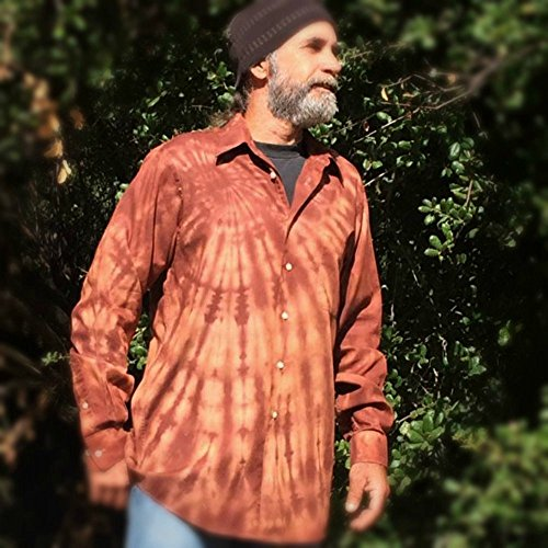 Brown Tie Dye Button Up Shirt - M/L by Incense and Peppermints
