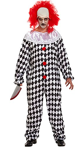 MA ONLINE Mens Fancy Scary Clown Halloween Outfit