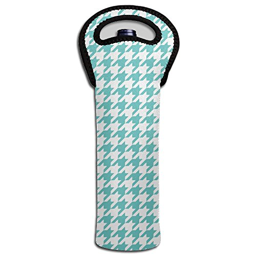 One Bottle Neoprene Wine Tote Houndstooth Wallpaper Water Bottle Sleeve Protector Storage Handbag For Beer Drink Bottle Wine Champagne Chardonnay Bottle