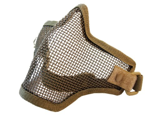 Airsoft Half Face Mask With Wire Mesh Khaki TMC