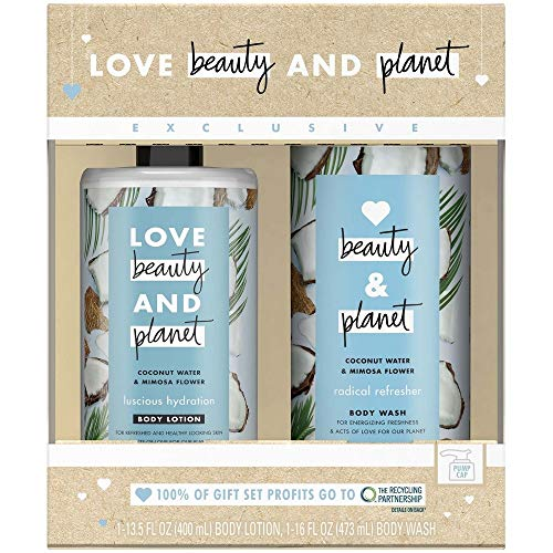 Bath And Body Gift Set Blue Coconut Water - Set Waters Bath Blue
