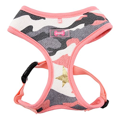 """Puppia """"A Ensign Harness, Large, Pink Camo"""