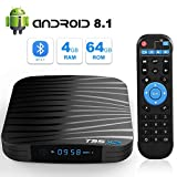 TUREWELL TV Box Android 8.1, T95 X2 8.1 Android Box S905X2 Quadcore Cortex-A53 4GB RAM 64 GB ROM Smart TV Box 2.4G/5GHz WiFi Support 3D 4K Bluetooth 4.1 Ethernet 10/100M HDMI Output Media Player