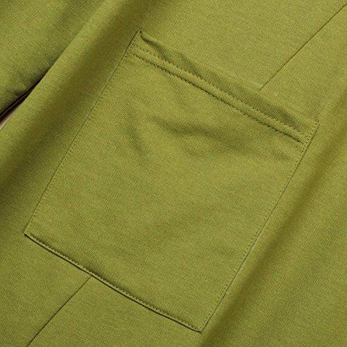 Vert chemise coton longues Femme Zanzea line manches Casual Tunique robe A Automne tops en 6awTAwnS