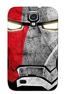 Tpu Case Cover For Galaxy S4 Strong Protect Case - Iron Man Design