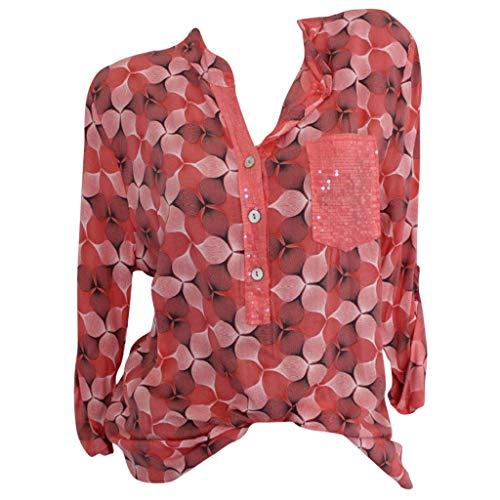 NCCIYAZ Womens Top Shirt 3D Printing Off ShoulderButton Plus Size Flare Long Sleeve Loose Ladies Oversized Blouse(6,Orange-Button)]()