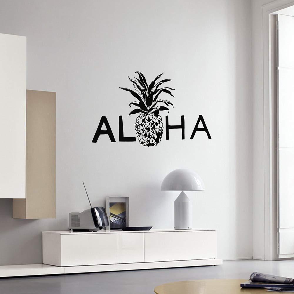 lyclff Aloha Vinilo Tatuajes de Pared Piña Hawaii Hawaiian Estilo ...