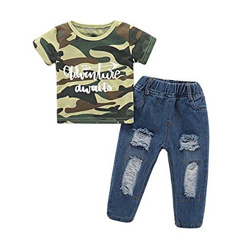Baby Boy Sets Camo Print Short Sleeve T-Shirt