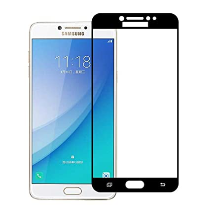Stuffcool Mighty 2.5D Full Screen Tempered Glass Screen Protector Guard for Samsung Galaxy C7 Pro