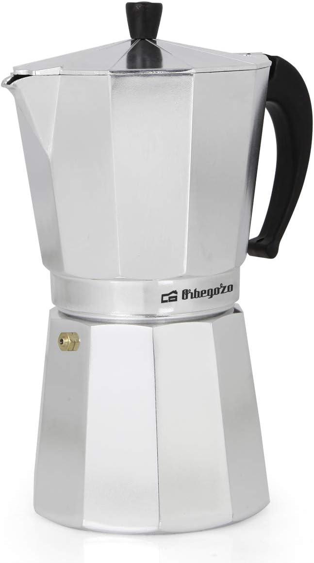Cafetera italiana ORBEGOZO KF1200   ORBEGOZO 12 tazas Vitro Gas Electrico: Amazon.es: Hogar