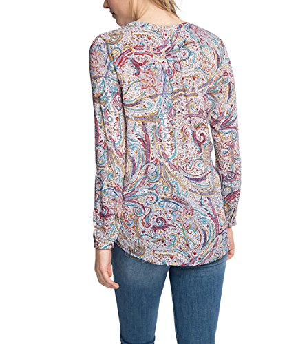 Esprit Mit Paisley-Muster, Blusa para Mujer Multicolor (OFF WHITE 3 112)