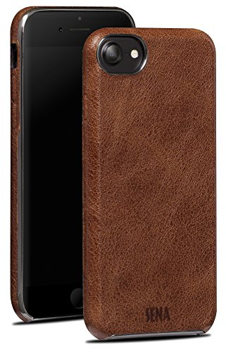 Sena Premium Stand Case (Sena Ultra Thin Snap on, Premium thin leather wrapped case for the iPhone 7 - Cognac)