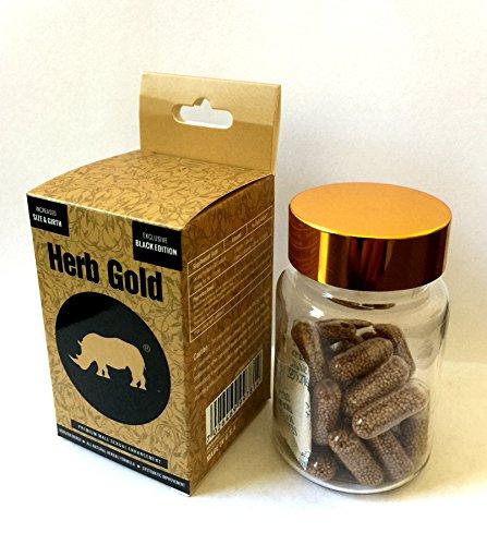 NEW Rhino Black Herb Gold Men Enhancement Permanent Enlargement Pills (1)