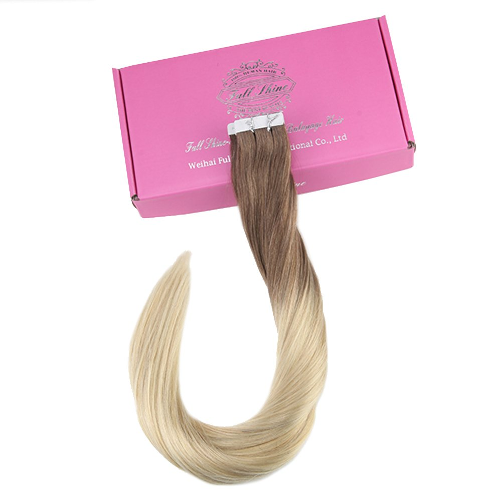 Amazon Full Shine 14 Balayage Ombre Tape In Hair Extensions