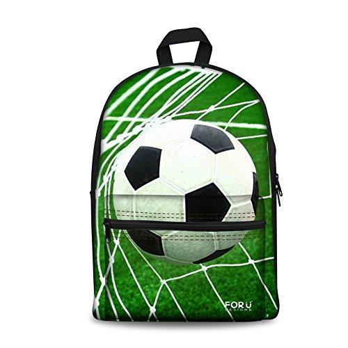 o School Kid Book Bag Schoolbag for Boys Green Soccer Print Rucksack (Soccer Kids Backpack)