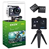 EKEN W9s Action Camera Full HD Wifi Waterproof Sports Camera with 4K 10fps 1080P 30fps 720P 30fps Video 12MP Photo and 140 Wide Angle Lens includes 11 Mountings Kit 2 Batteries Black