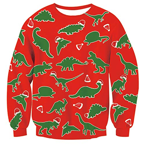 Elf Christmas Sweater Comfy Loose Chaos Graphic Pullovers