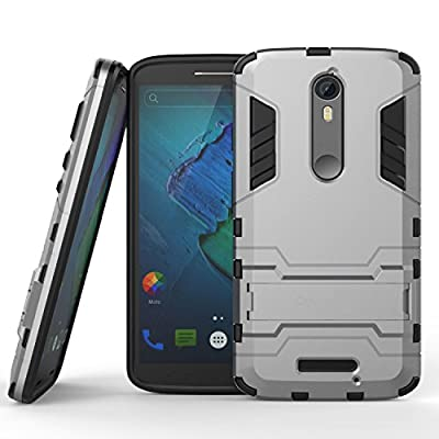 Motorola Droid Turbo 2 Case, CoverON® [Shadow Armor Series] Dual Layer Hybrid Cover Kickstand Phone Case For Motorola Droid Turbo 2 / X Force 2 / Kinzie Bounce from CoverON