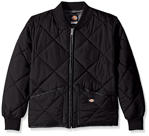 Dickies Big Boys' Quilted Nylon Jacket, Black, Medium (10/12) (Quilted Boys Jacket)