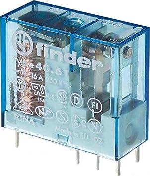 Finder Serie 40 - Rele Mini reticulado conmutado 16a 24vdc agsno2