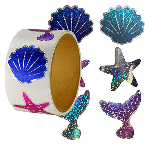 Sparkle Glitter Roll of 100 Mermaid Theme