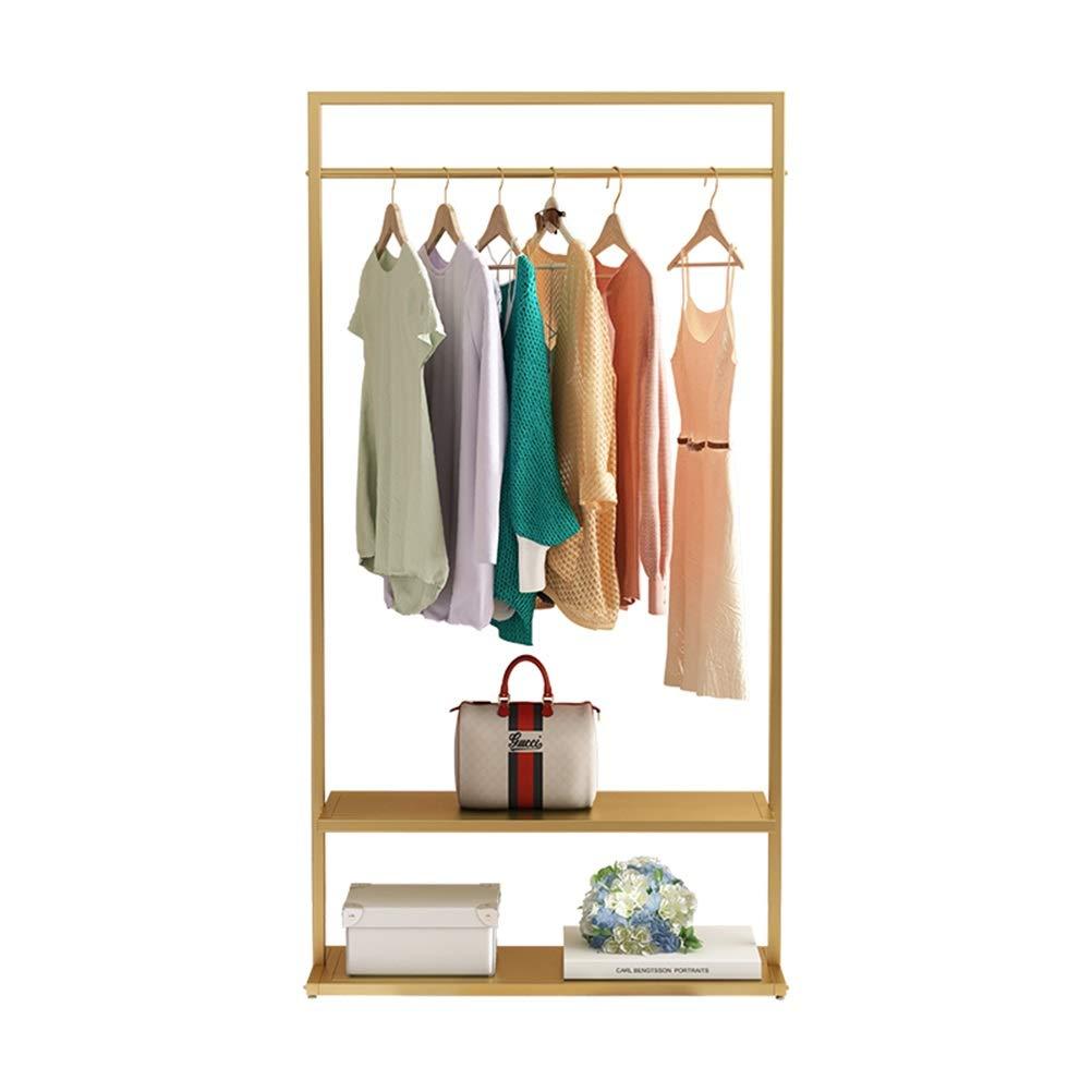 B.YDCM - コート ハンガー コートラック - ハンガーフロアの寝室のコートラックシンプルハンガーホームコーナークロークラックラック服収納棚 (Color : Gold, Size : 60*160cm) 60*160cm Gold B07TMNZ8N5