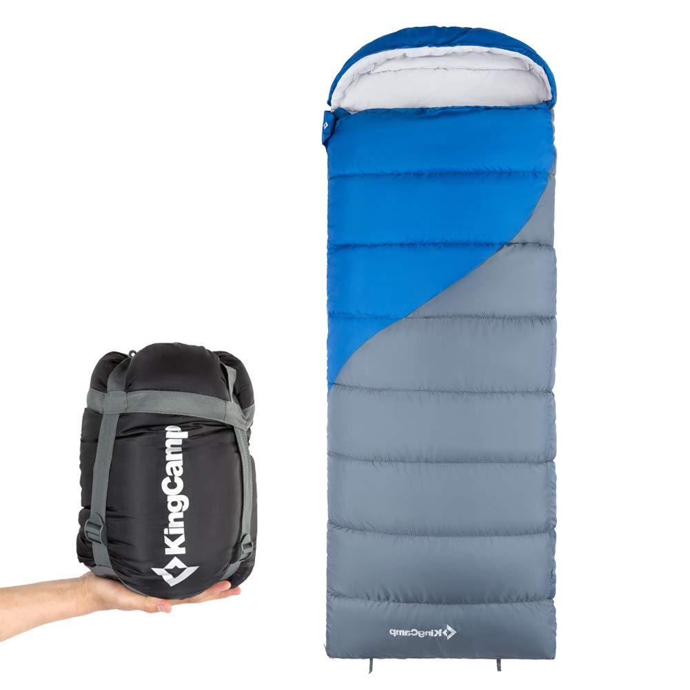 Amazon.com: KingCamp Saco de dormir para adultos, 26 F / 6.8 ...