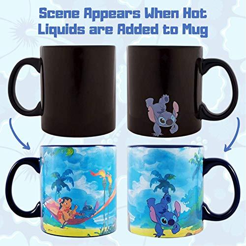 Silver Buffalo Lilo and Stitch Space to Beach Mug, 20-Ounce, Multicolor