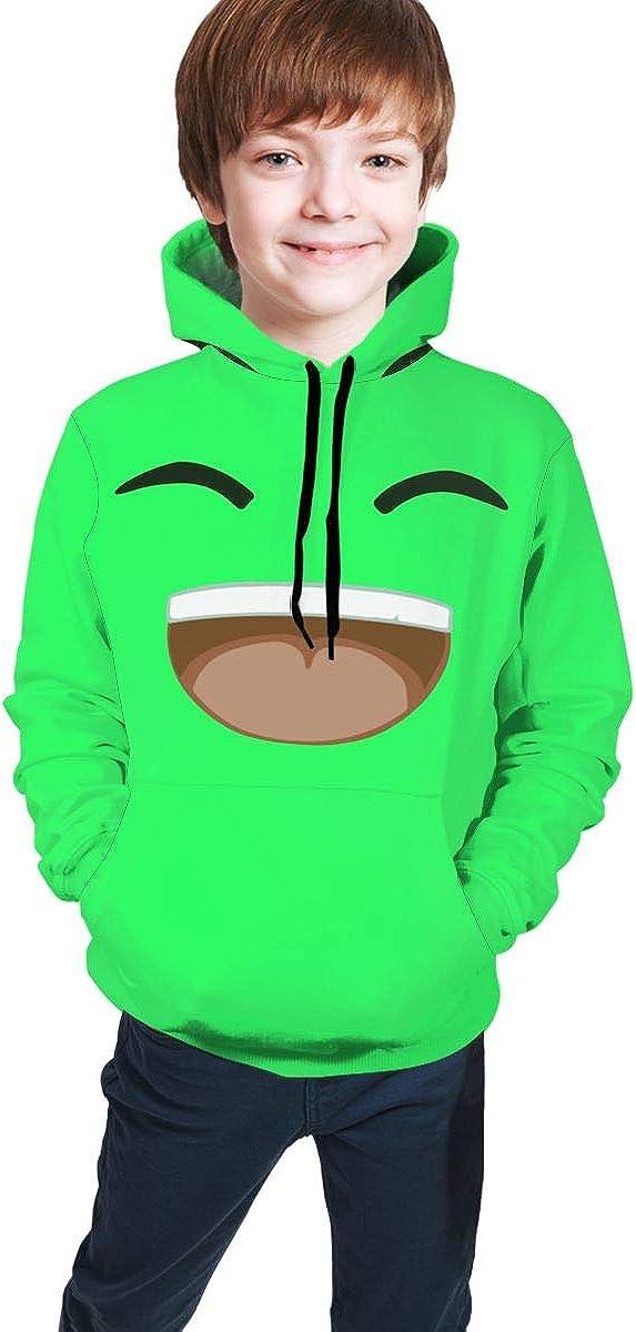 ASDDndPK Kids Youth 3D Print Green-Jelly Pullover Hooded Sweatshirt