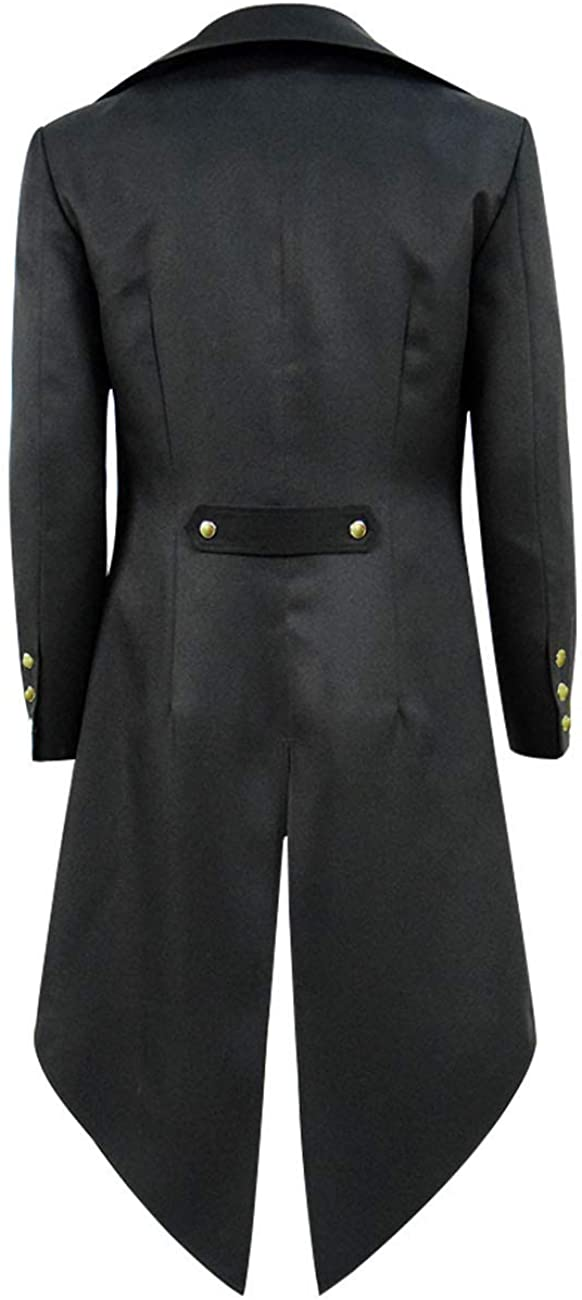 BellaPunk Boys Kids Steampunk Jacket Gothic Long Tailcoat Gentleman Coat Costume