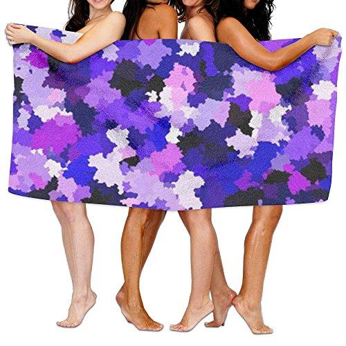 YINGGAIH Soft Spa Bath Towels Purple Camouflage High Absorbe