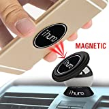 Mobile Phone Car Mount by ihum pro | Dashboard Magnetic Cell Phone Mount | For Use in Cars, Rvs, Boats, Trucks | Universal - Fits All Cell Phones and Small Tablets | Strong Neodymium Magnet