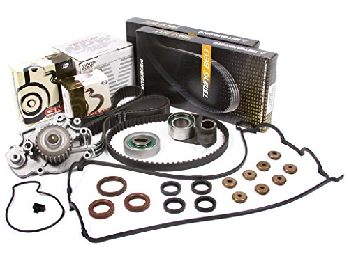 Evergreen TBK226MVCN Fits 93-01 Honda Prelude 2.2L H22A1 H22A4 Timing Belt Kit Valve Cover Gasket NPW Water ()