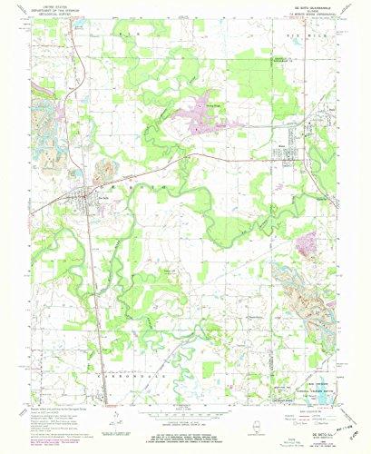 De Soto IL topo map, 1:24000 scale, 7.5 X 7.5 Minute, Historical, 1968, updated 1978, 26.9 x 22 IN - - Old Orchard Il