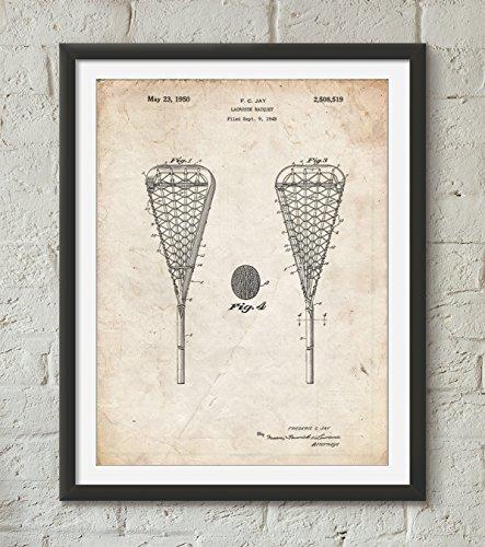 Lacrosse Stick 1948 Patent Poster