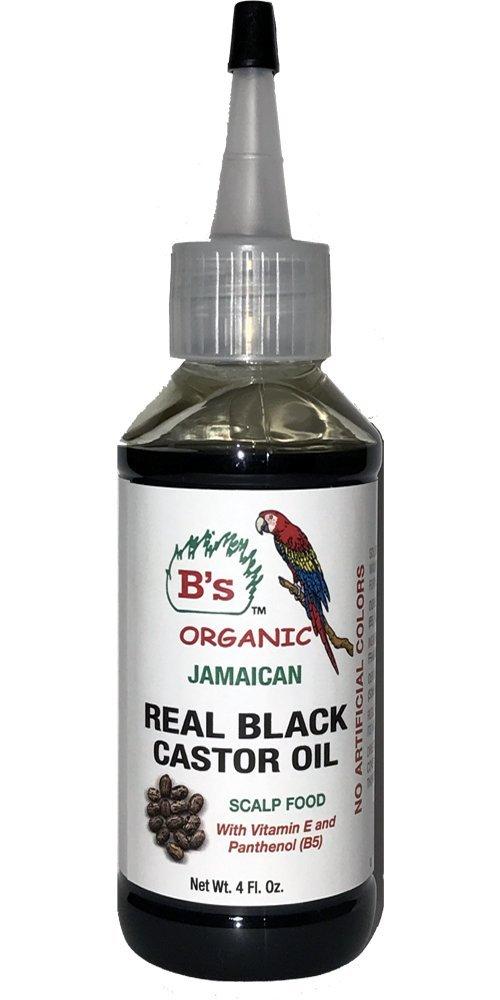 B's Organic Jamaican Real Black Castor Oil 4 oz.