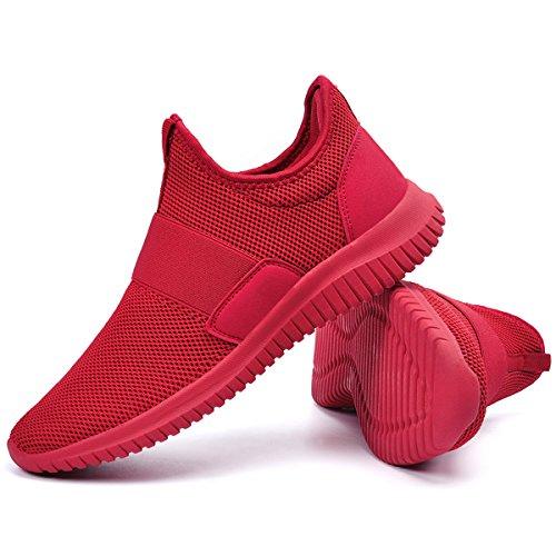 Sneakers Da Uomo Qansi Traspiranti Scarpe Da Ginnastica Leggere Leggere Scarpe Da Ginnastica Rosse