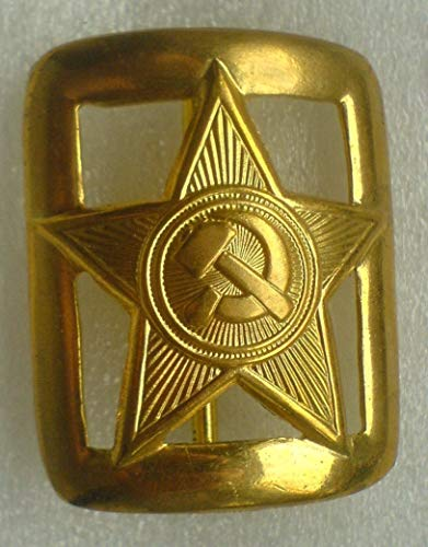 WW2 WW II Russian Soviet Union Military officer's Red Army RKKA Belt Buckle USSR Uniform Surplus Copy