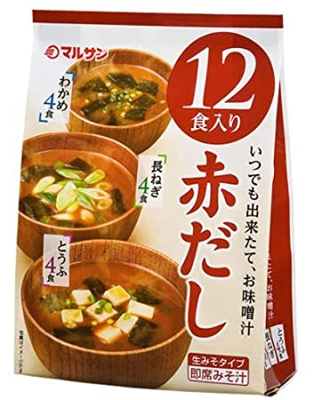 Amazon Com Marusan Instant Miso Soup Red Miso 12 Packs