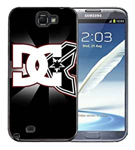 Samsung Galaxy Note 2 Black Rubber Silicone Case - DC Famous Stars Straps Logo Cool