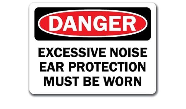 Señal de peligro - excesivo ruido protección para los oídos ...