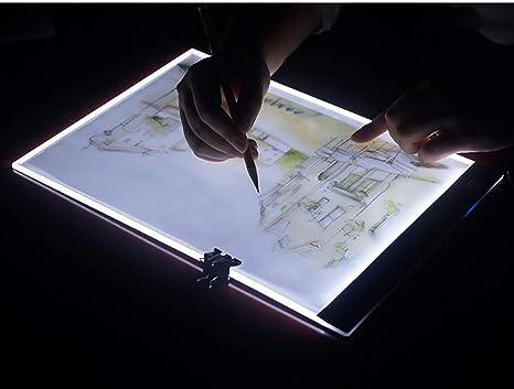 Tracer - Caja de luz LED portátil A4 ultrafina, con USB, ajustable ...