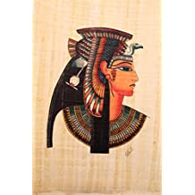 iRSE Art Egyptian Genuine Papyrus, Ancient Egypt paper, hand made wall paper, artistic drawing, archaeologist picture image, Best Christmas Gift (Shape21)