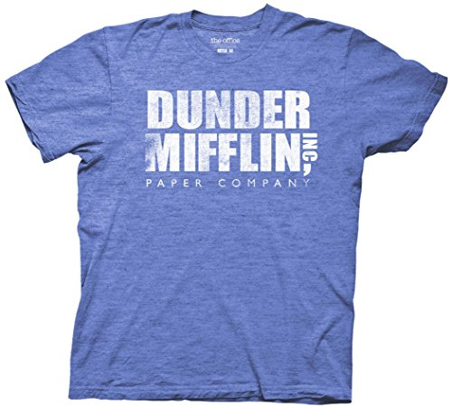 Ripple Junction The Office Dunder Mifflin Vintage Adult T-Shirt 2XL Heather Royal Blue