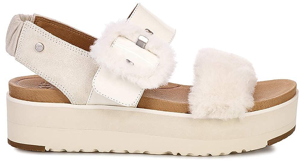 UGG Australia Damen Sandaletten Fluff 1099815 weiß 655494