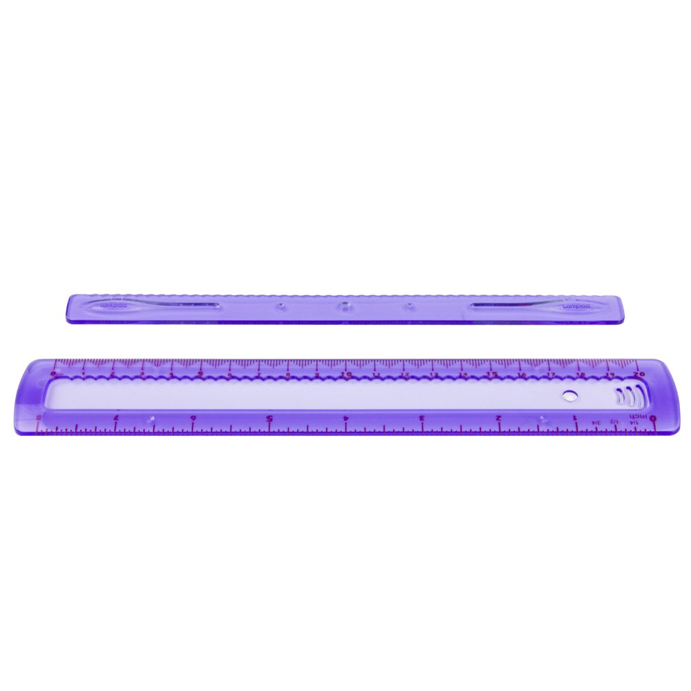 180 Degree Protractor Soft Clear Plastic for Office or School Triangle inches and Metric Bendable Ruler 6-inch Transparent by Larkpad 3 in 1 Pack Shatterproof Ruler