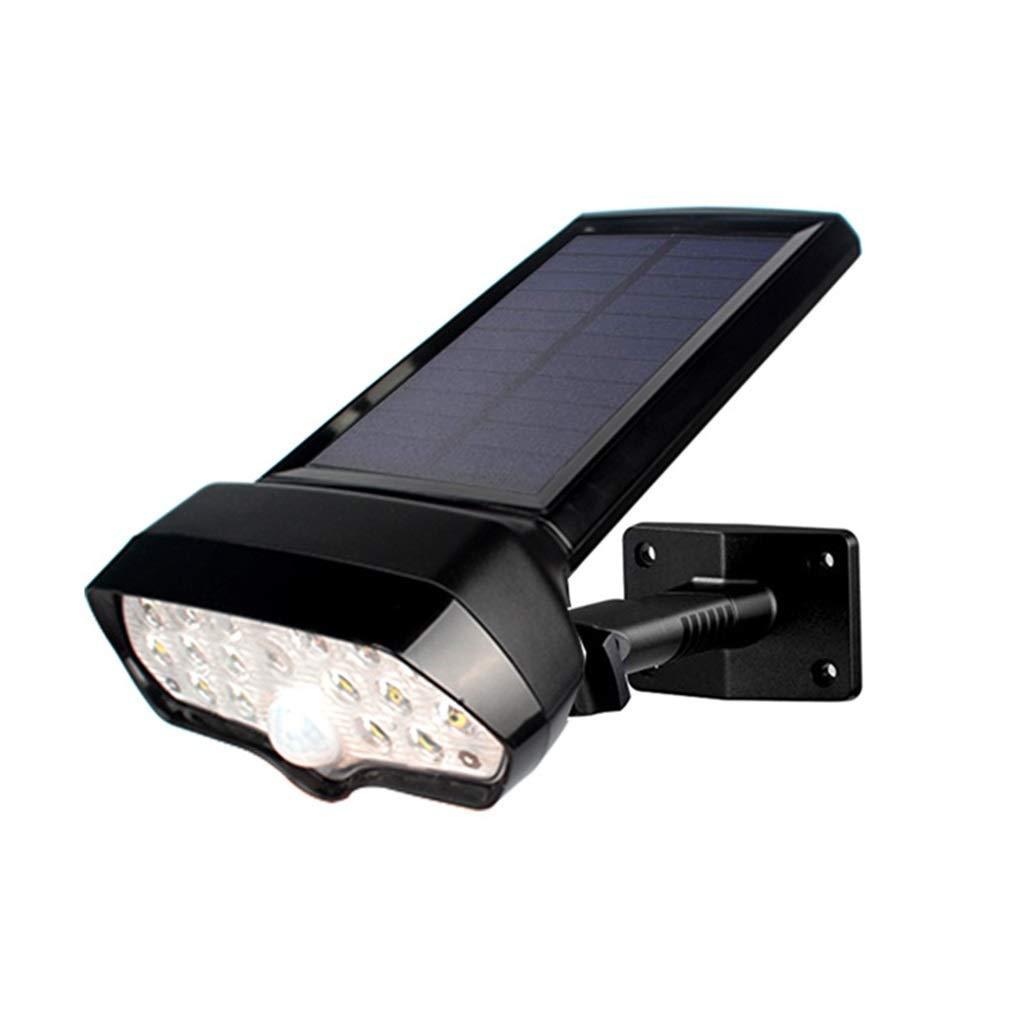Solar Wandleuchte, 16 LED Solar Bewegungsmelder Sicherheitslicht IP65 Wasserdichte Außenwandleuchte, Solar Garten, Zaun, Außenwand (2er Pack)