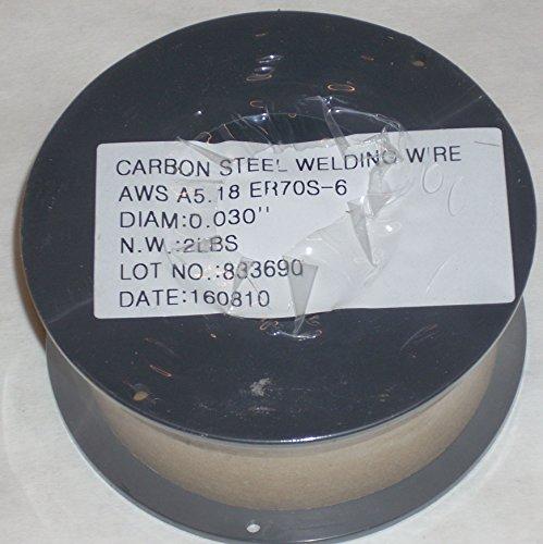 2 Rolls of ER70S-6 Mild Steel Mig Welding Wire 2lb Each .030 Diameter ()