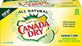 Canada Dry Lemon Lime Sparkling Seltzer Water, 12 fl oz cans, 8 count